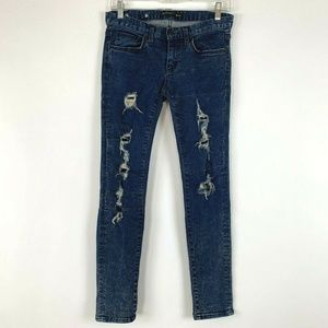 SELVAGE | Skinny Jeans Women 25 Ripped Distress